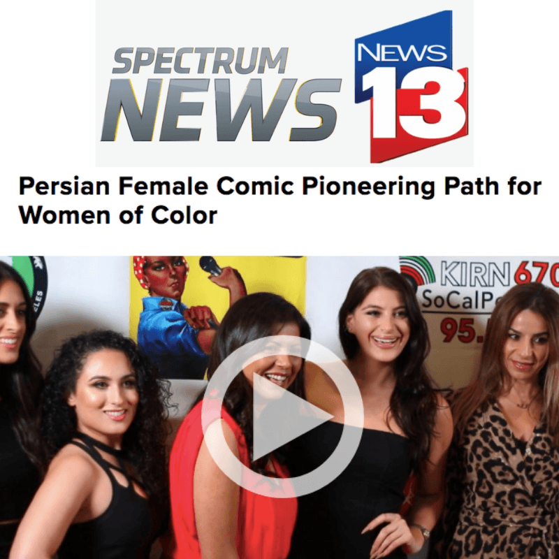 Persian Female Comedian Pioneering Path for Women of Color