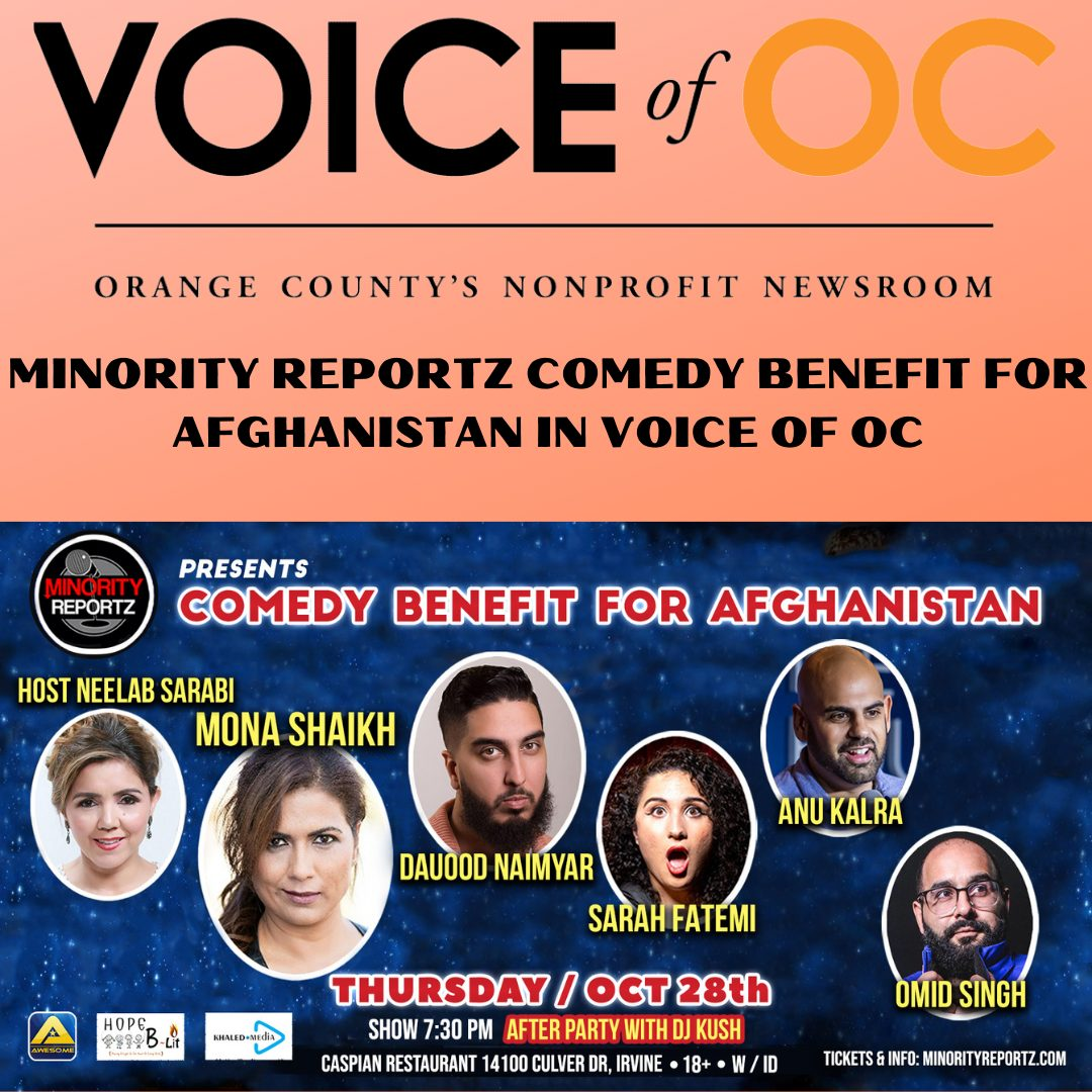 Minority Reportz in Voice of OC for Comedy Benefit for Afghanistan